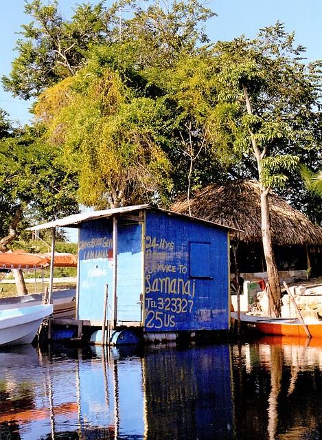 Boat Dock at Orange Walk, Belize