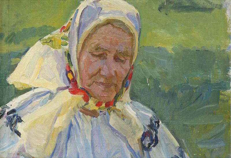 Меліхов Георгій «Думка», 1974р., картон, олія. Картина знаходиться у фондовій колекції Черкаського обласного художнього музею