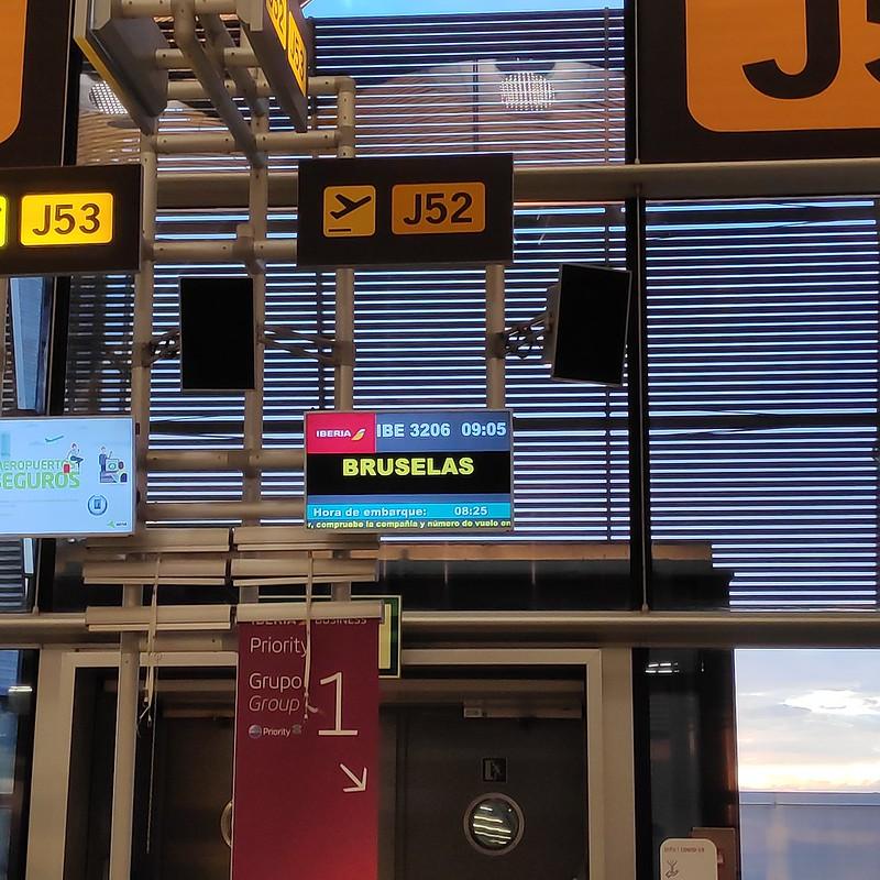 Puerta de embarque a Bruselas