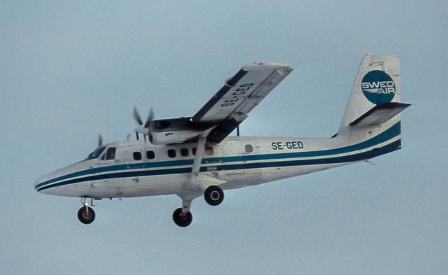 SE-GED Swedair DHC 6 Twin Otter @ ARN 1984