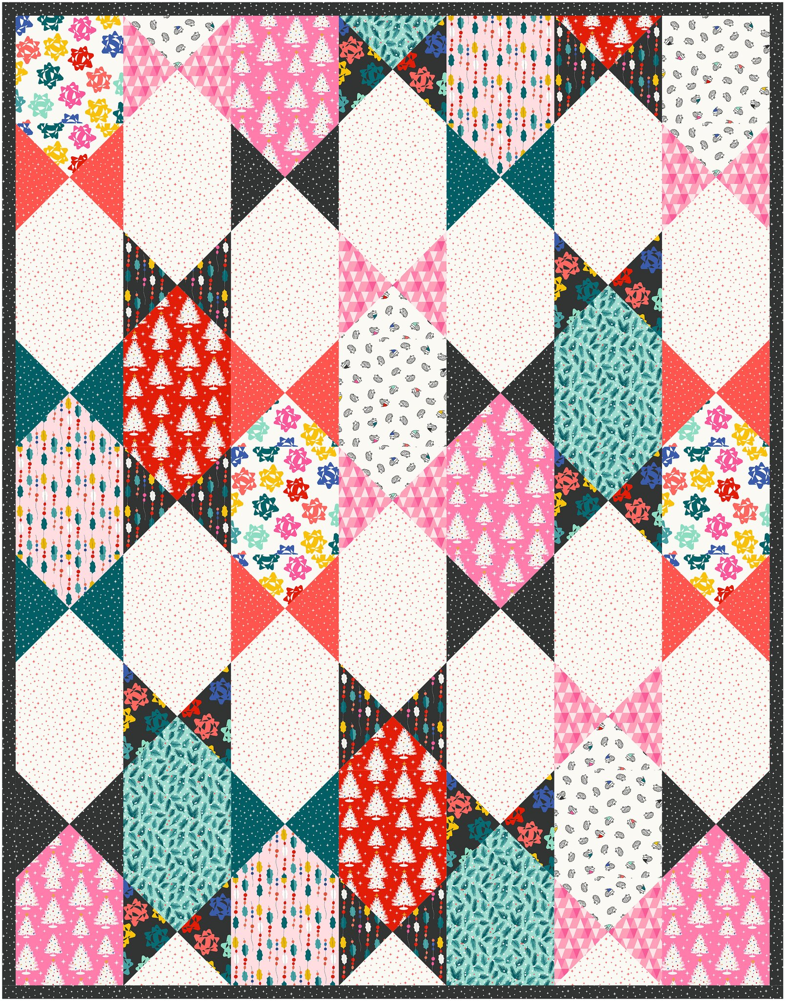 The Abigail Quilt in Peppermint - Kitchen Table Quilting