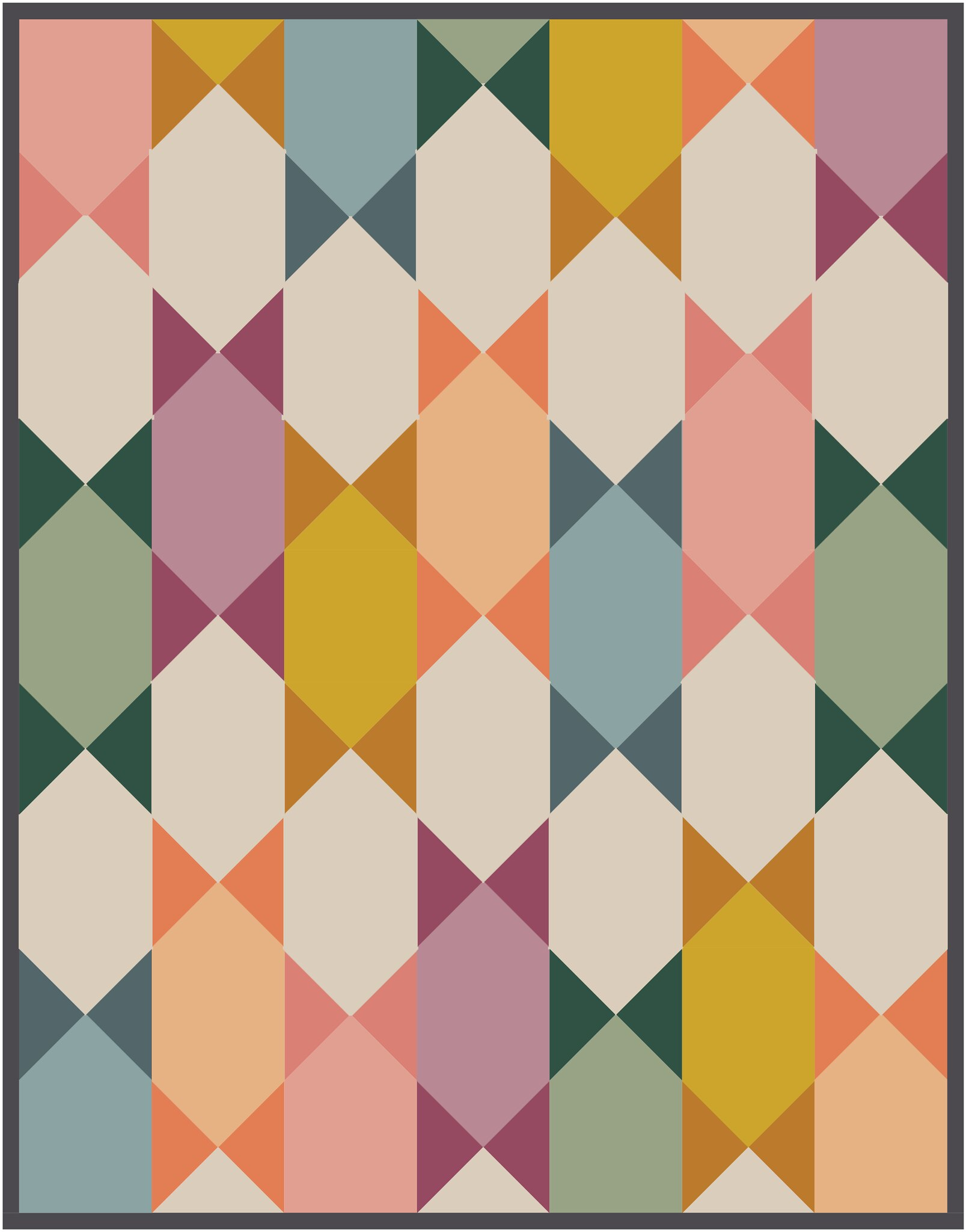 The Abigail Quilt in Pure Elements Solids - Kitchen Table Quilting