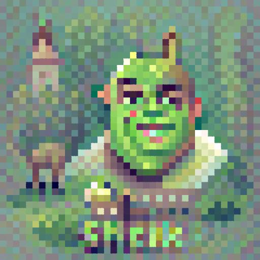 'Shrek' PixelDraw Text-to-Image