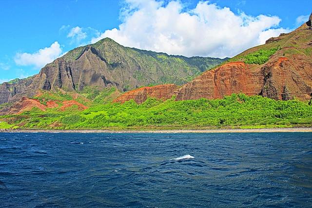 Kauai - heading north up the Na Pali Coast - Captain Andy's Dinner & Sunset Cruise