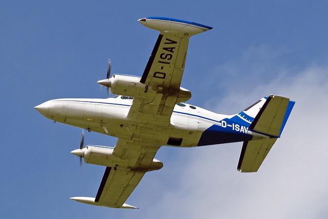 D-ISAV   Cessna 402B Businessliner [402B-0201] (Aerodata International Surveys) Schaffen-Diest~OO 13/08/2016