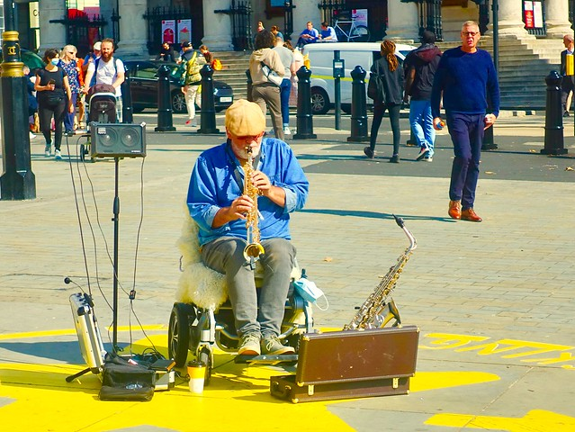 Musician (Brass) in Trafalgar Square