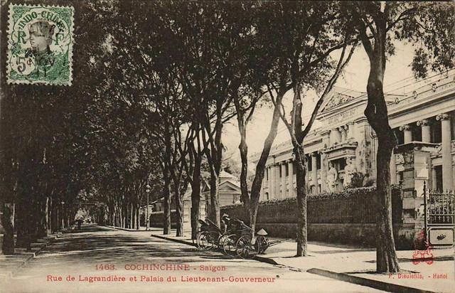 Saigon - Rue de Lagrandière et Palais