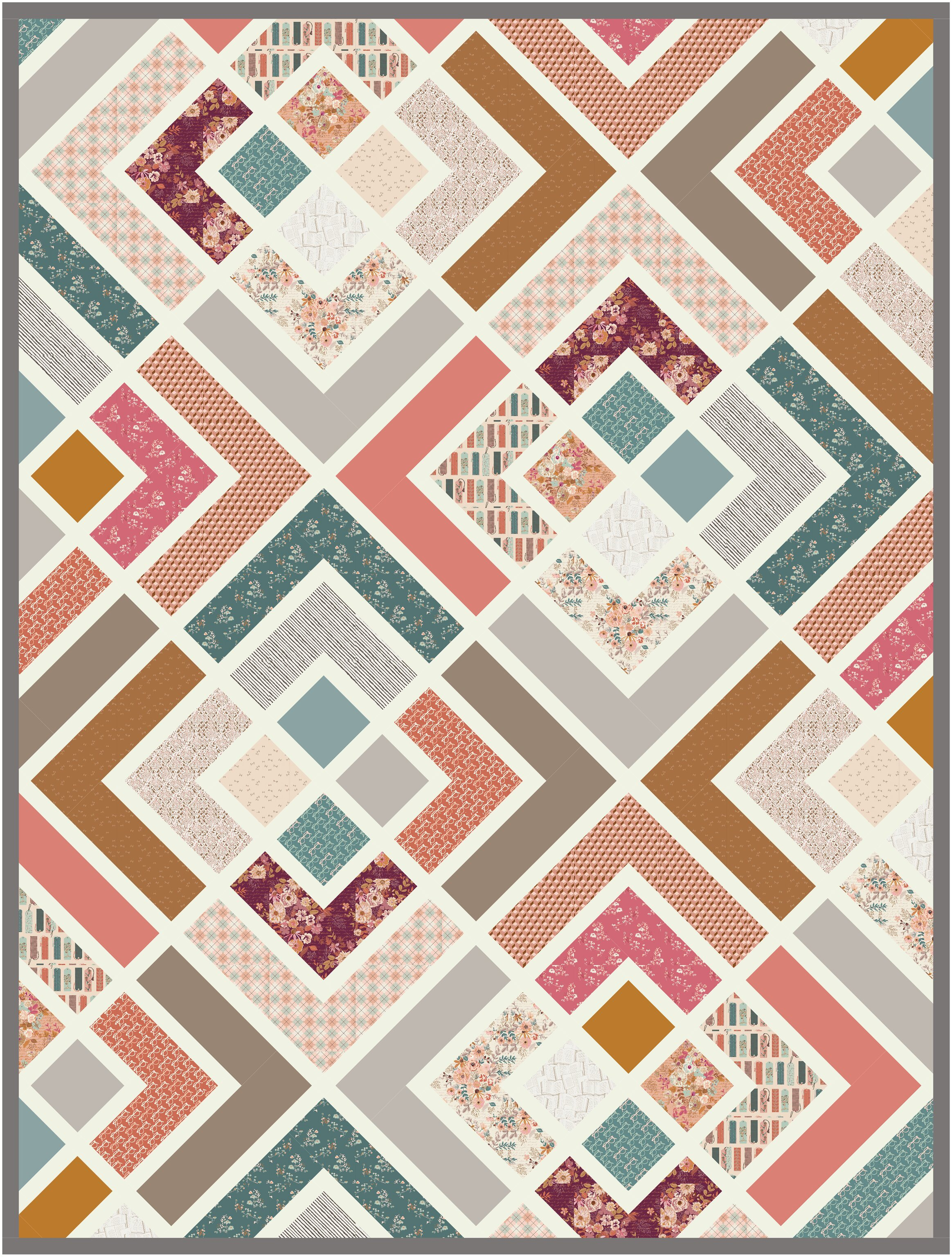 The Penny Quilt in Bookish