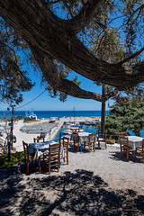Ikaria/Ικαρία -  Tavern and harbour of Gialiskari (2)    Greece/Ελλάδα