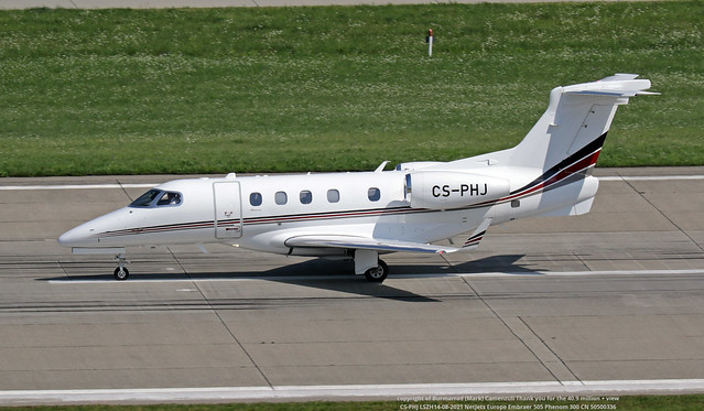 CS-PHJ LSZH14-08-2021 NetJets Europe Embraer 505 Phenom 300 CN 50500336