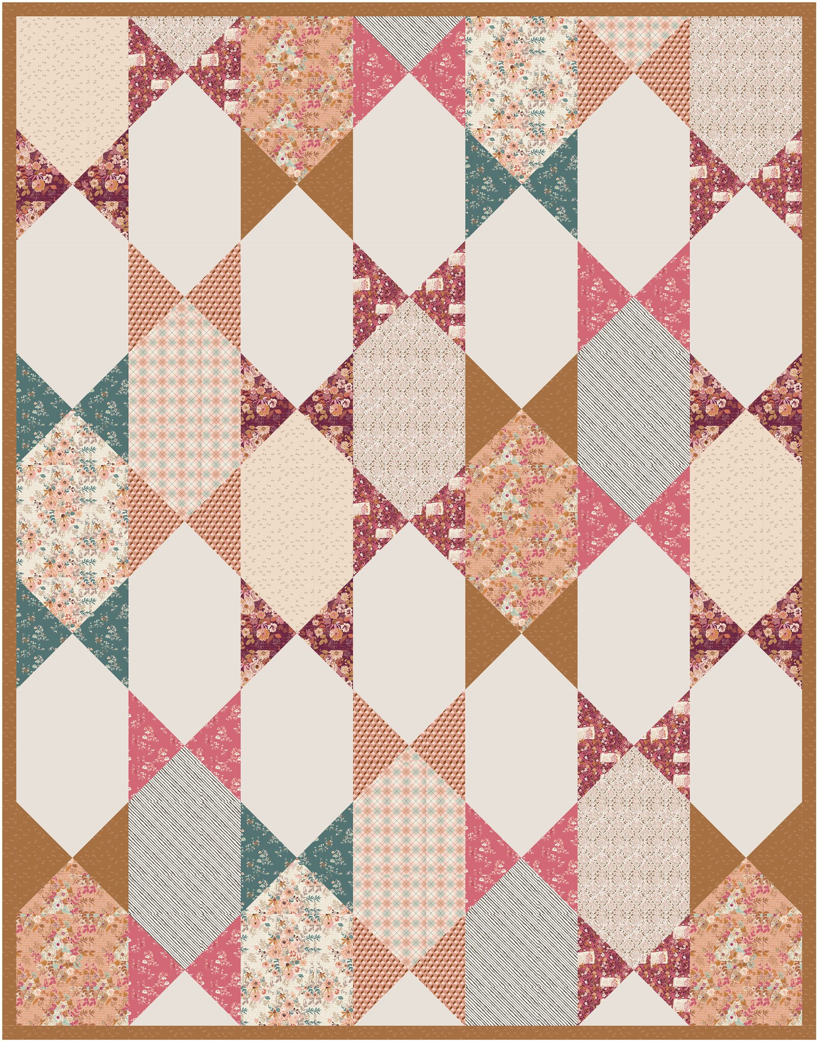 The Abigail Quilt in Bookish - Kitchen Table Quilting