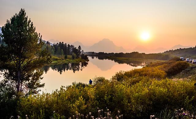 Beautiful Sunset, Oxbow Bend, Snake River