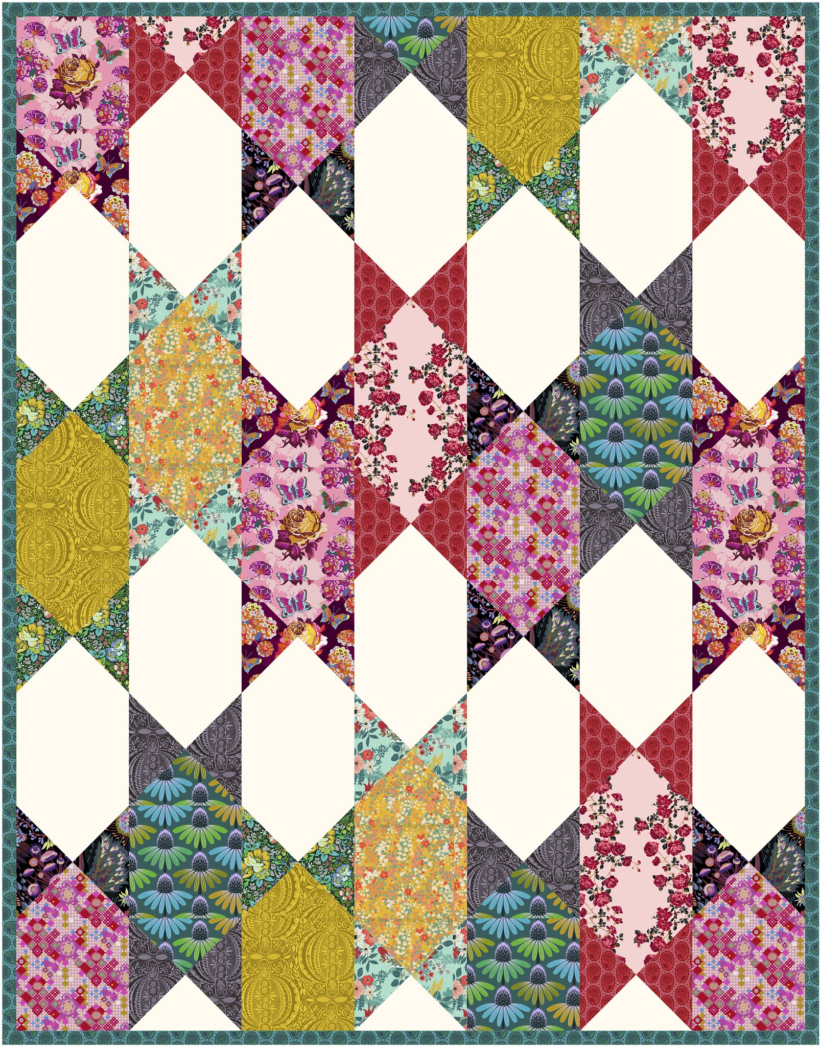 The Abigail Quilt in Love Always - Kitchen Table Quilting