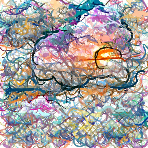 'a cloudy sunset' CLIPDraw Text-to-Image