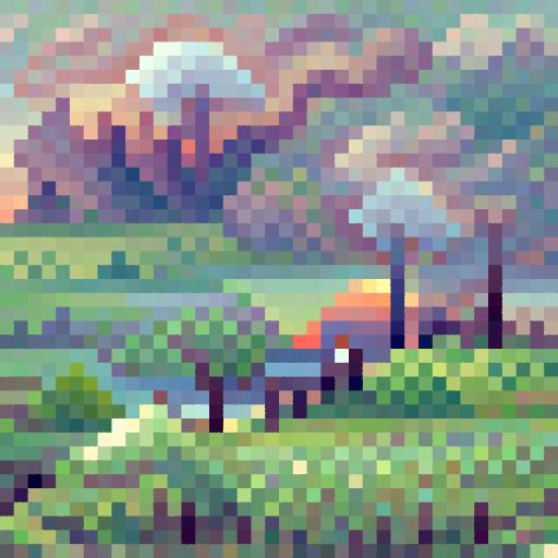 'a morning landcsape' PixelDraw Text-to-Image