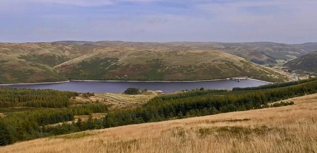 Lower Glendevon Reservoir in the Ochil Hills.
