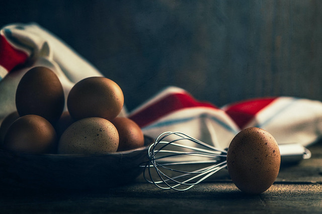 Eggs and beater