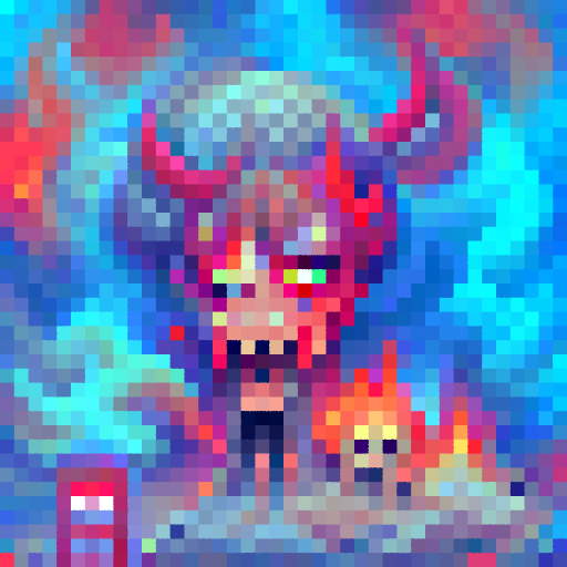 'Hell' PixelDraw Text-to-Image