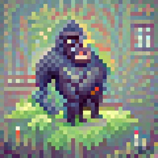'a gorilla' PixelDraw Text-to-Image