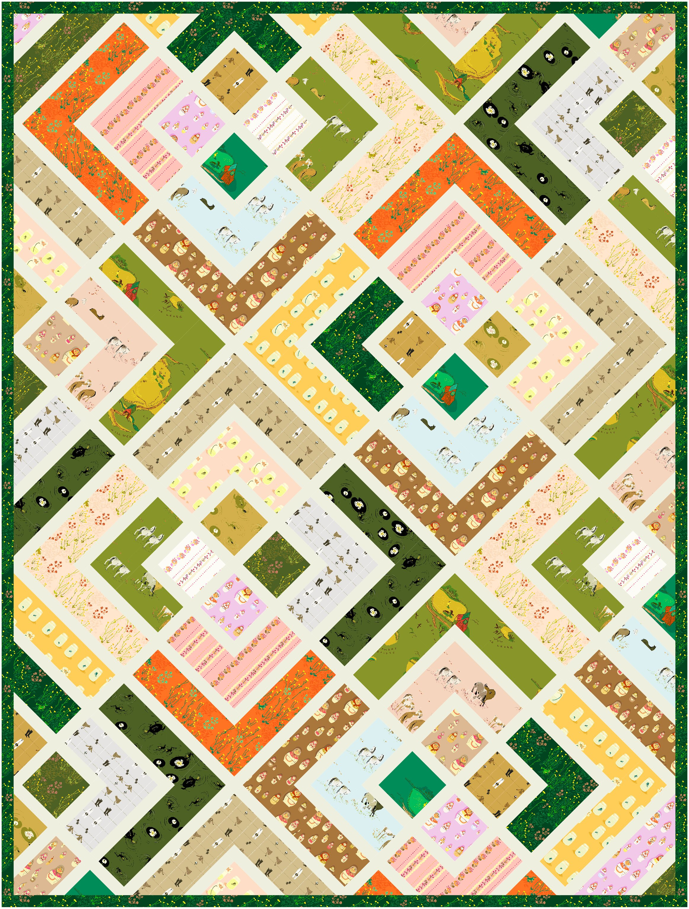 West Hill - The Penny Quilt Pattern