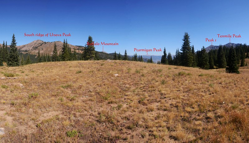 View to northeast at mountains from Wheeler Lake viewpoint 1-1