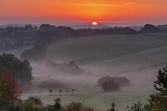 *Sunrise in the volcanic Eifel*