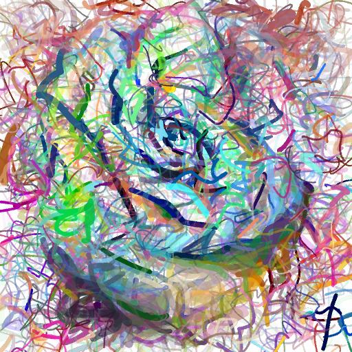 'a digital painting of a rose' CLIPDraw Text-to-Image
