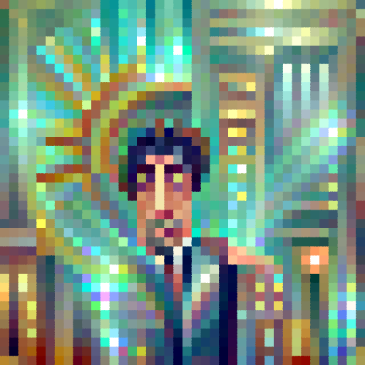 'an art deco painting of Al Pacino' PixelDraw Text-to-Image