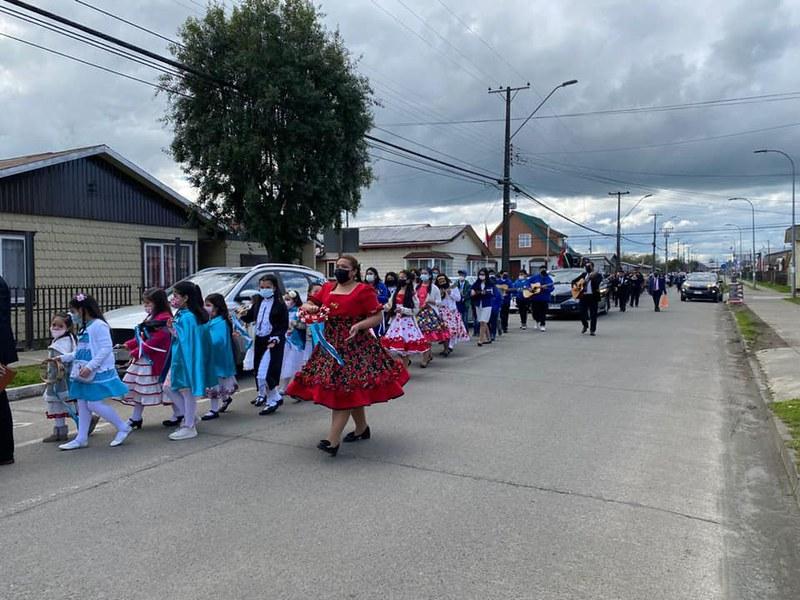Noticia Desfile Fiestas Patrias IMPCH Frutillar Sector 22