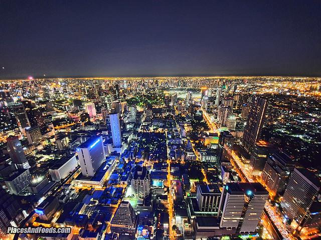 mahanakhon skybar night view