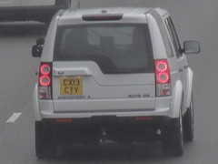 North Wales police land rover discovery driver training unit CX13 CTY