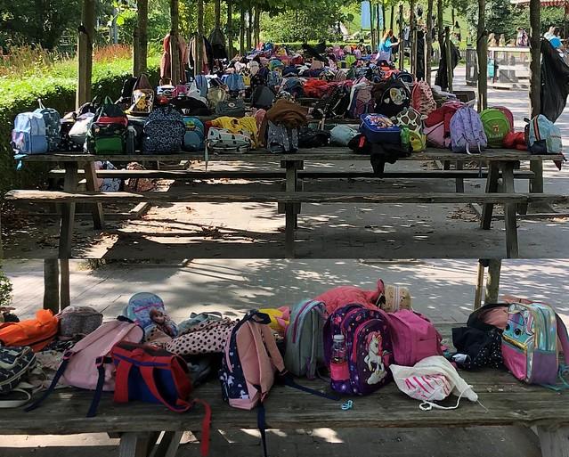 Rugzakken in Plaswijck Park / Backpacks in Plaswijck Park