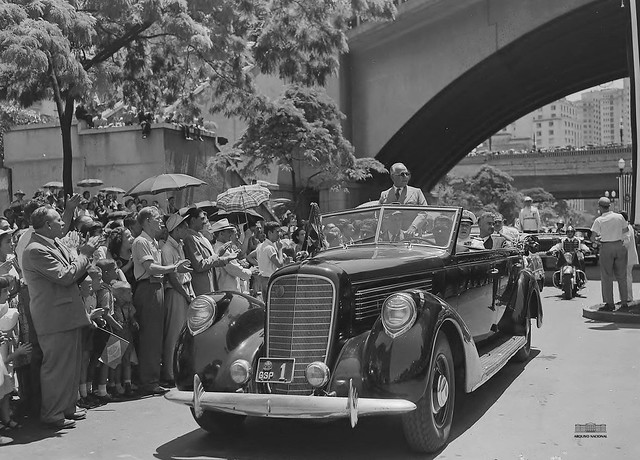 Getúlio Vargas em São Paulo, 1954.