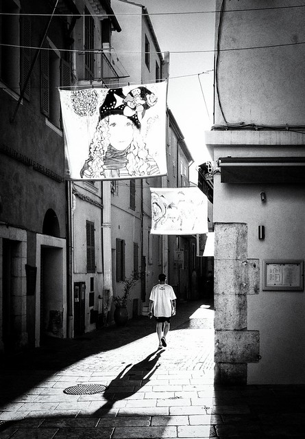 in a street of Sanary (french riviera)