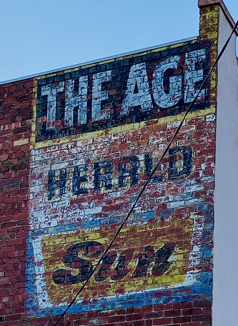 265/365. Ghost sign #97  This excellent period ghost sign is advertising the newspapers: The Age Herald Sun