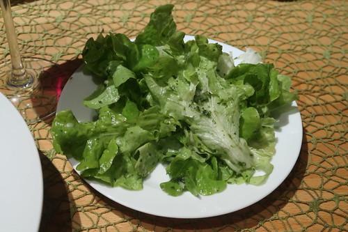 Grüner Salat als Beilage
