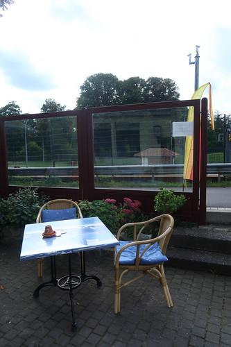 Lottas Cafè an der Hünteler Schleuse (unser Tisch)