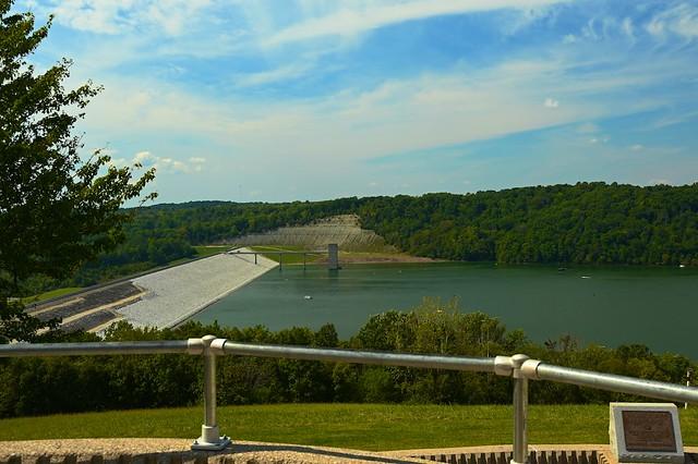 New Rock Overlay at Brookville Lake Dam