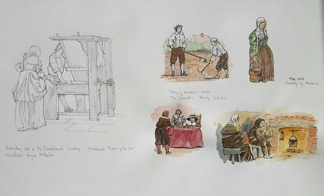 A sheet of 17th century figure studies