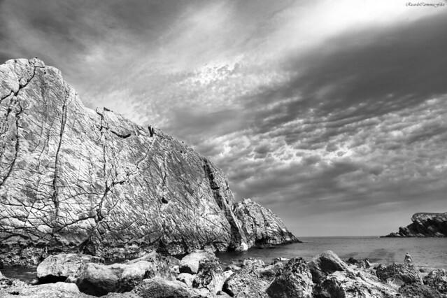 Bathing between rocks - Baño entre rocas
