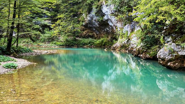 Rijeka Kupa poviše prvoga mosta