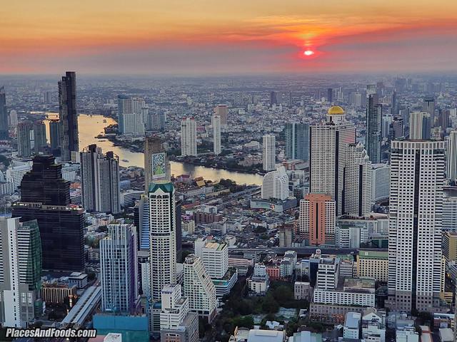 mahanakhon skybar sunset view