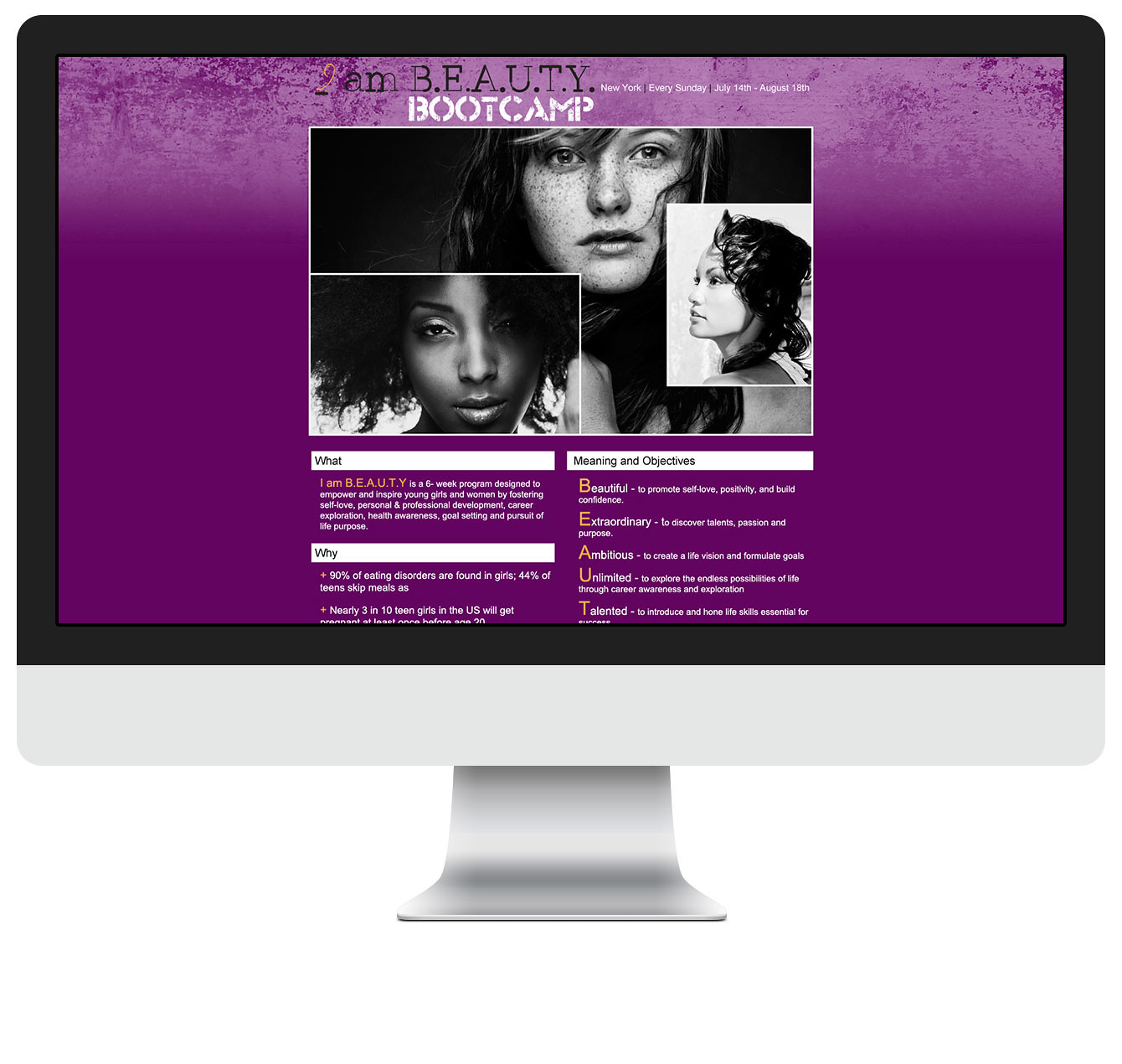 Very First I am Beauty Landing Page