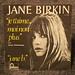 Jane Birkin - je t'aime moi non plus - retro vinyl record