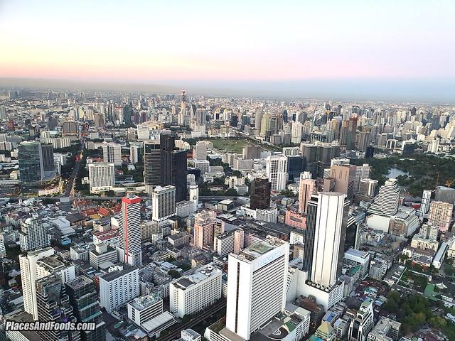 mahanakhon skybar bangkok day view