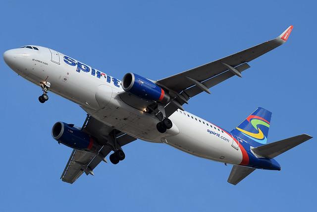 Spirit Airlines A320-232 N624NK at KMYR
