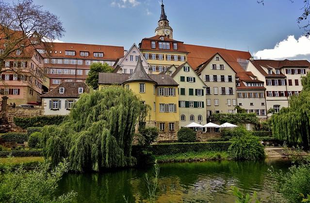 Germany, Deutschland , Am Neckar im historischen Tübingen, 20058