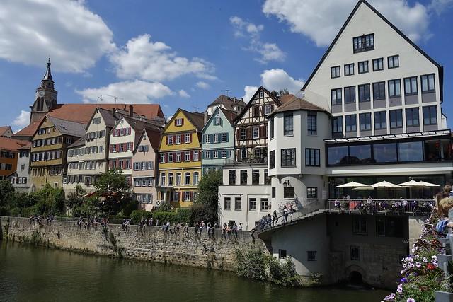 Germany, Deutschland , Am Neckar im historischen Tübingen, 20059