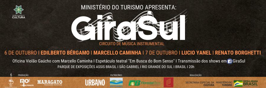 Girasul - 1º Circuito de Música Instrumental - 6 e 7 de outubro em São Gabriel