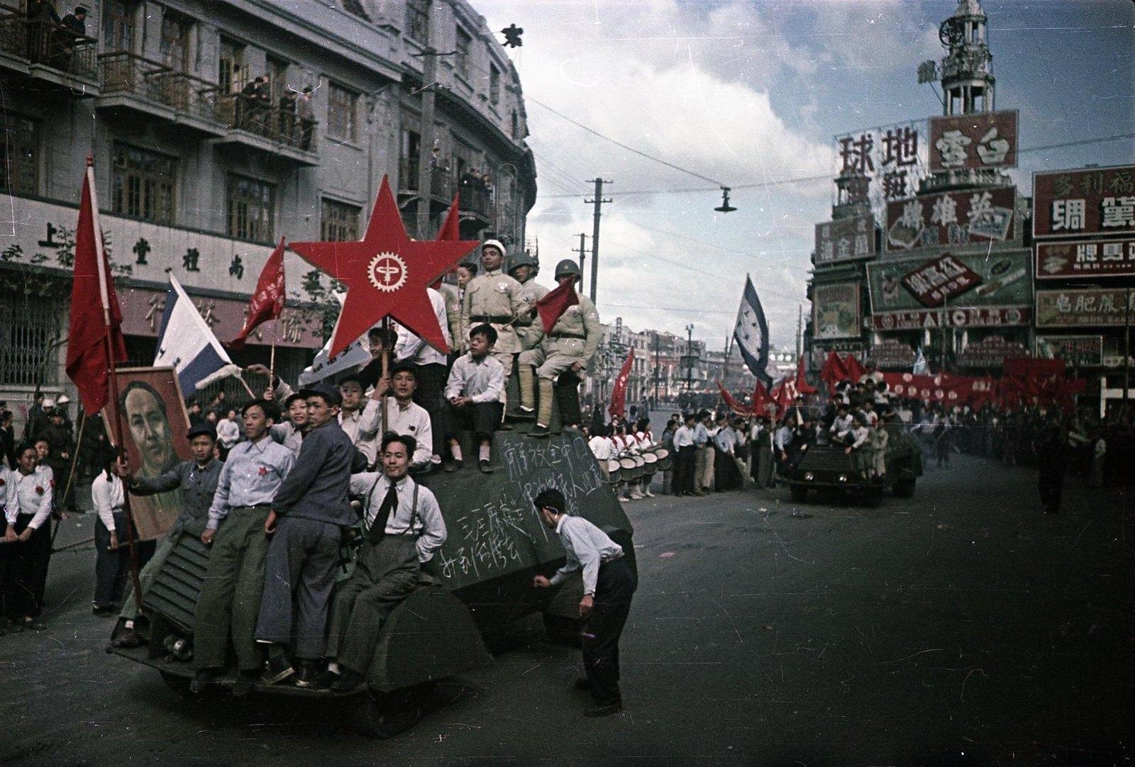 1949. Шанхай. Встреча войск Народно-освободительной армии (НОА) Китая